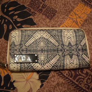 L.A.M.B. by Gwen Stefani Batik Zip Wallet